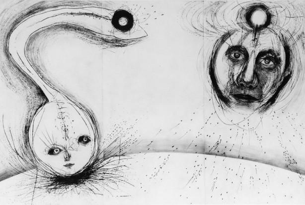 「LIFE-##-III」 Dry point - 200x300cm <1999>