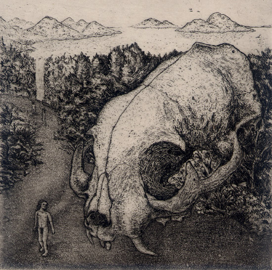 「Origin of Life-2」 Etching, Aquatint - 10x10cm <1996>