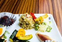 1:揚げナスのトマトだれ 2:ワイン泥棒のポテトサラダ 3:ビール泥棒のポテトサラダ - 1:Fried eggplant with tomato sauce 2:Potato salad to go with wine 3:Potato salad to go with beer
