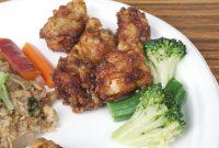 唐揚げ(Fride chicken)/ブロッコリーとおくらのナムル(Namul of broccoli and okra)
